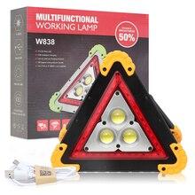 1600LM, 4 modos, mango portátil para exteriores, nueva linterna triangular de 36 LEDs para reparación de coche, luz de advertencia, semáforo de emergencia