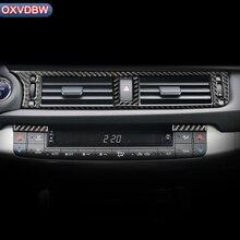 Autocollant de couverture de sortie de climatiseur Central   Accessoires en Fiber de carbone pour LEXUS CT200h LHD RHD, autocollant de couverture décorative pour intérieur de la voiture