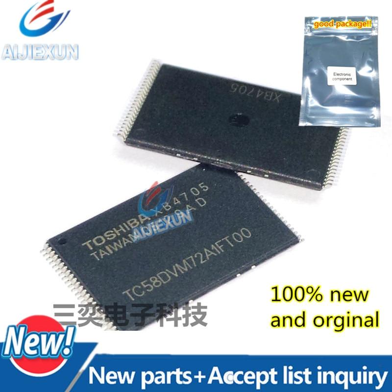 5 piezas 100% nuevo y original TC58DVM72A1FT00 TSOP-48 128-MBIT (16 M x 8 BITS/8 M x 16 BITS) CMOS NAND E2PROM en stock