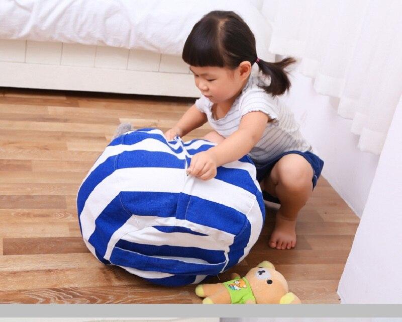 Silla portátil de juguete para niños bolsa de almacenamiento de animales de peluche bolsa de frijol almacenamiento creativo moderno estera de juego ropa herramientas de almacenamiento