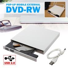 High Quality USB 2.0 Portable Ultra Slim External Slot-in DVD-RW CD-RW CD DVD ROM Player Drive Writer Rewriter Burner for PC