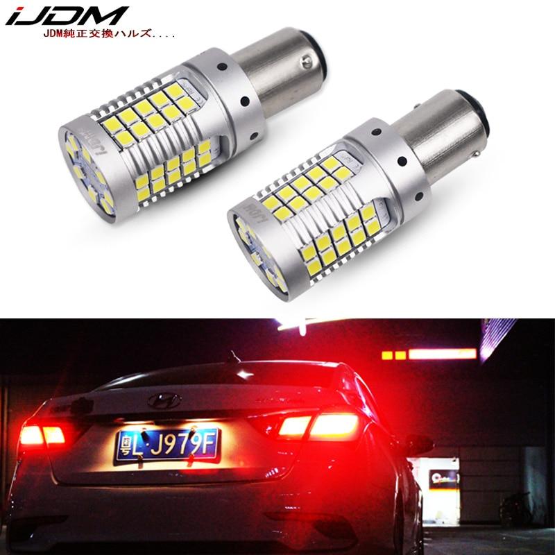 IJDM سيارة 1157 LED لا فرط فلاش العنبر الأصفر 3030 LED P21/5 واط BAY15d LED مصابيح سيارات بدوره أضواء الإشارة DRL Canbus خطأ مجاني