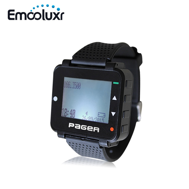 Wholesales 50pcs POCSAG Pager Text Message Paging Receiver Hand/PC Programmable Watch Pager with Rechargeable Battery