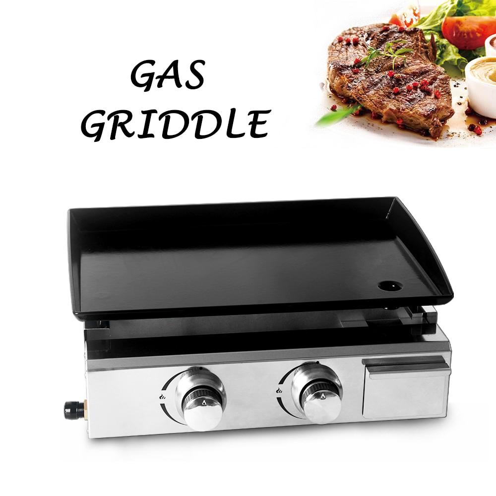 Барбекю-гриль ITOP, 2 горелки, газовая железная плита с антипригарным покрытием, инструменты для барбекю, сертификация CE, использования на ...
