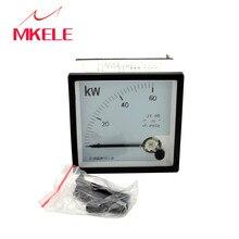 AC 96 (MK96 KW KW (380 V) watt medidor de energia Cabos de aço Ponteiro Instrumento Testador de Diagnóstico-ferramenta Wattímetro Elétrica 96*96mm