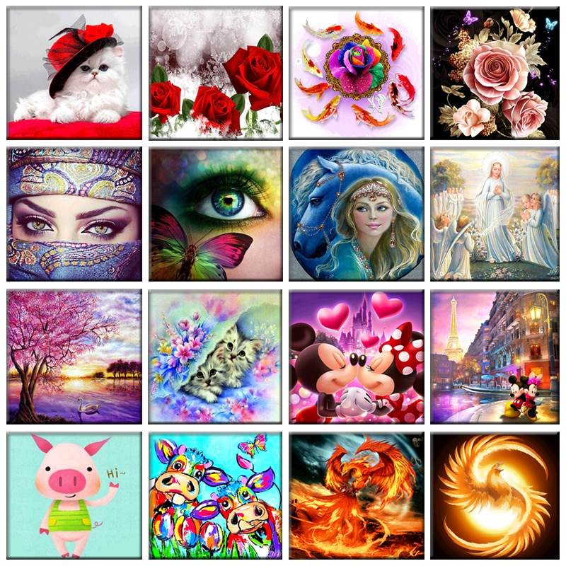 Multi-style 5D Diy Living Room Decoration Diamond Painting Embroidery Cross Stitch Kit Wall Stickers Mosaic Gift