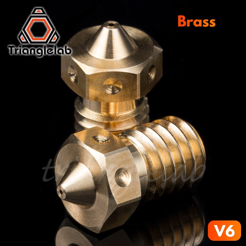 trianglelab Top quality V6 Nozzle for 3D printers hotend 4pcs/lot 3D printer nozzle for E3D hotend titan extruder prusa i3 mk3 trianglelab 3 wires dc fans sets for prusa i3 mk3 mk3s mk2 2 5 3d printer