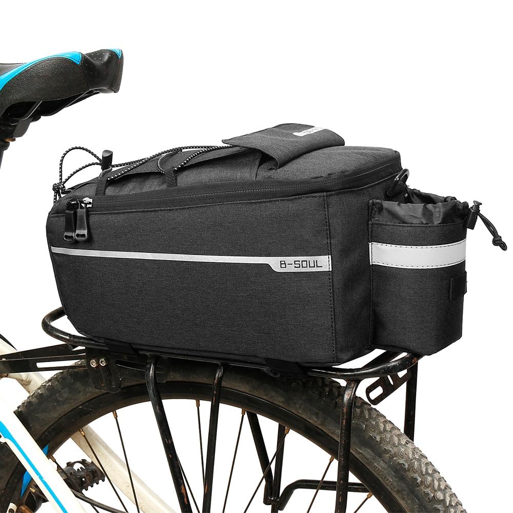 Cycling Bag Insulated Trunk Cooler Bag Cycling Bicycle Rear Rack Storage Luggage Bag Reflective MTB Bike Pannier Shoulder Bag