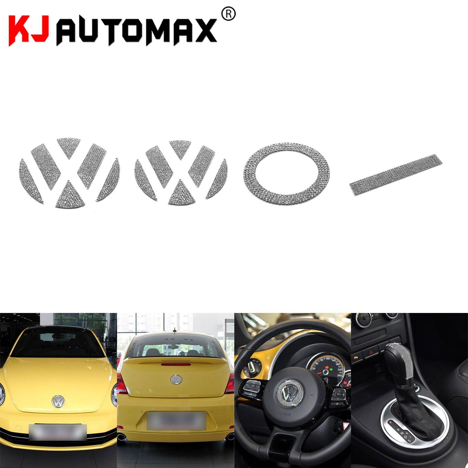 KJAUTOMAX para Beetles de Volkswagen 2000-2013, un conjunto de pegatinas de anillo emblema diamante