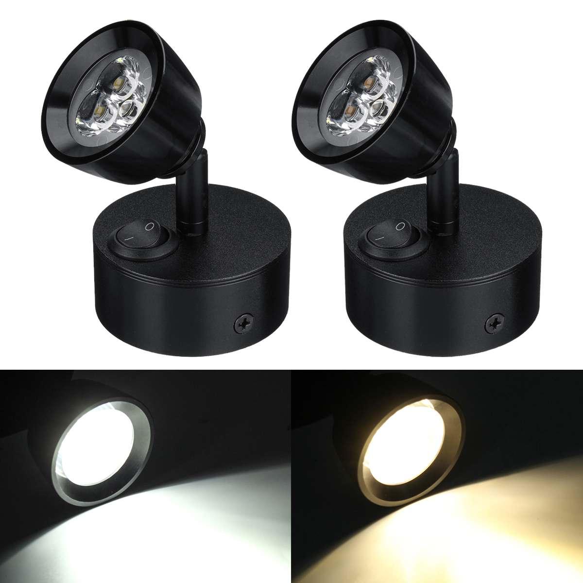 Foco LED de 12-24V luces interiores RV mesilla de noche gabinete de pared para la cocina lámpara de 3W para camión barco