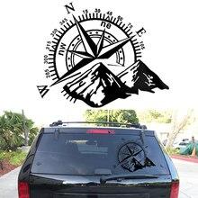 Car Van Off Road Hood Side Body Compass Vinyl Decal Sticker Exterior Decoration