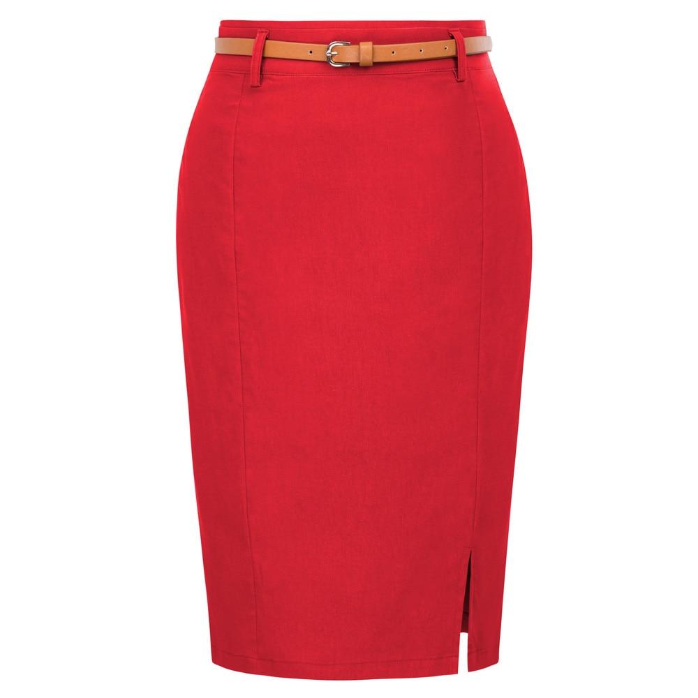 Kate kasin mulher bodycon lápis saia com cinto elástico cintura alta escritório saia senhora cor sólida quadris-envolto saia vestir para trabalhar