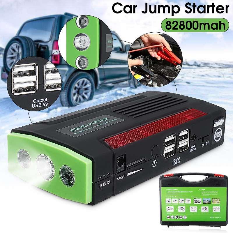 Audew Многофункциональный портативный 12V автомобильный стартер 600APeak 82800mAh Аккумулятор Booster Power Bank для автомобильного зарядного устройства 4 USB порта