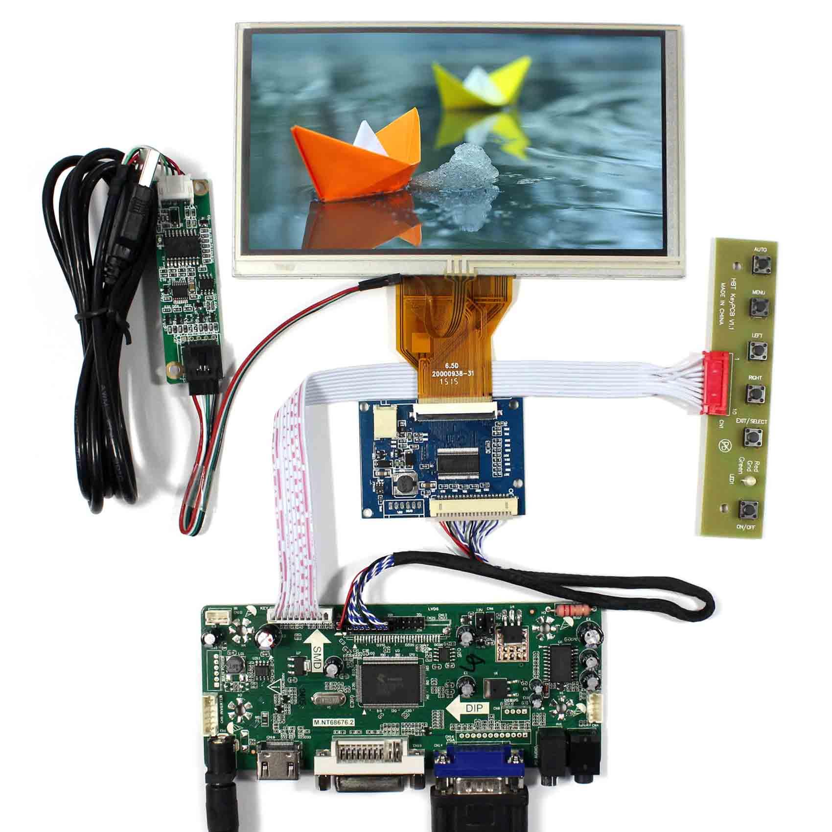 "6,5 ""ЖК-дисплей 6,5 дюймов 800x480 ЖК-экран VGA DVA HDMI AT065TN14 TP ЖК-драйвер ЖК-контроллер плата"
