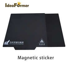 Запчасти для 3D-принтера новая магнитная клейкая лента для печати наклейки 150/200/214/220/235/310 мм квадратная лента для сборки поверхности гибкой п...
