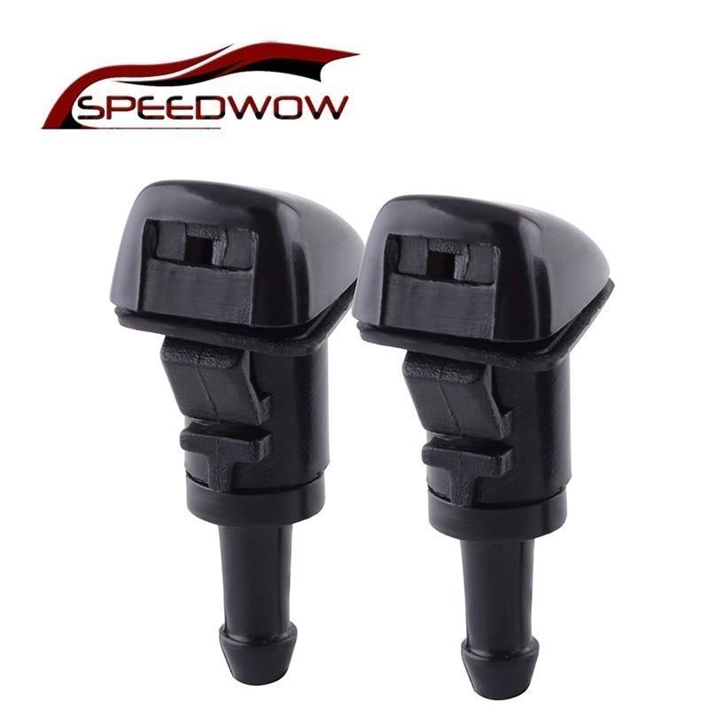 SPEEDWOW 1 Paar Auto Scheibenwischer Wasser Spray Washer mit Gummi Dichtungen Paar Für 2007-2012 Dodge Kaliber 5160308AA 5303833AA