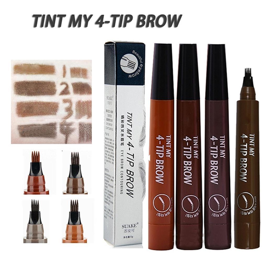 BellyLady 4 Head Fork Tip Eyebrow Tattoo Pen Liquid Brow Enhancer Dye Tint Pencil
