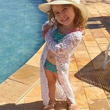 فستان شاطئ للأطفال الصغار من Meihuida فستان مزهّر من الدانتيل والشمس مناسب للشاطئ فستان بكيني ملابس سباحة ملابس خارجية
