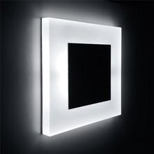 Yeni led duvar ışık gömme gece işıkları kare akrilik 3W COB 110V 220V merdiven adım ayak Modern ev dekorasyonu duvar lambası