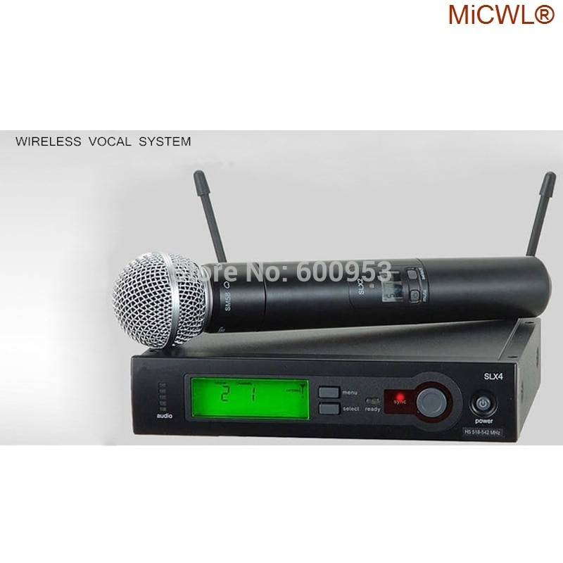 100% MiCWL marca seis SLX24 BETA58/SM 58 UHF profesional sistema con micrófono...