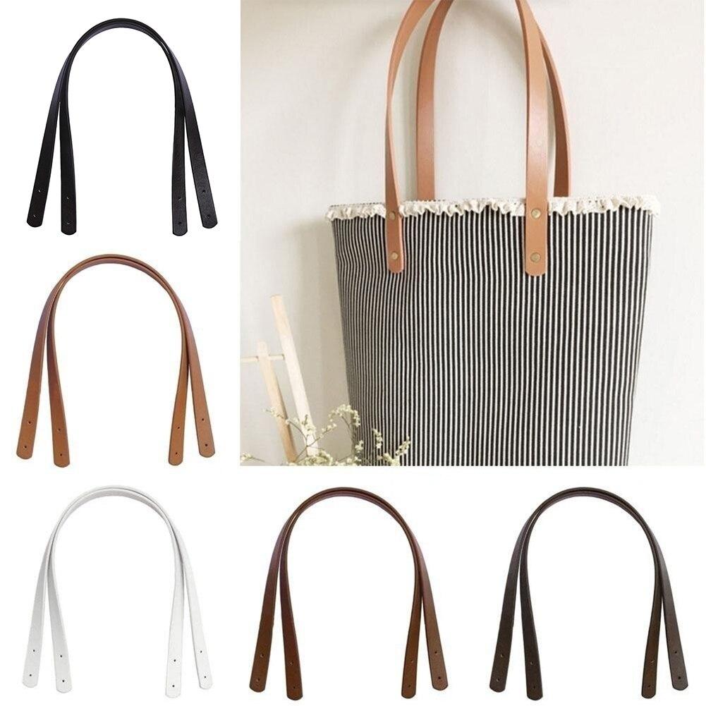 2 uds correa de bolso desmontable de cuero de PU bolso bandolera DIY accesorios de repuesto bolso correa de mano correa de correa