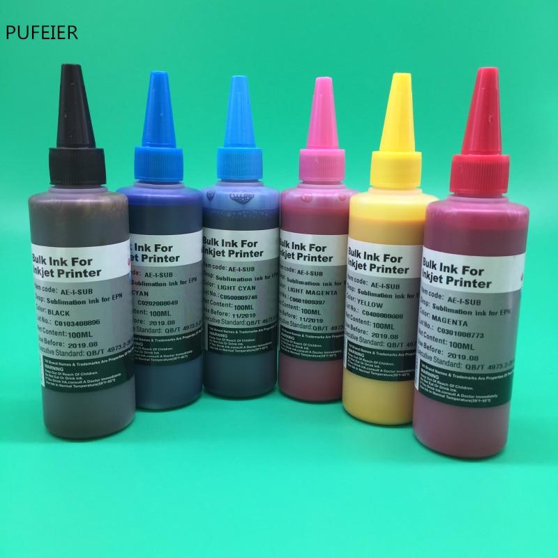 6 бутылок T0481-T0486 термопресс сублимационные чернила для Epson R200 R220 R300 R300M R320 R340 RX500 RX600 RX620 струйный принтер