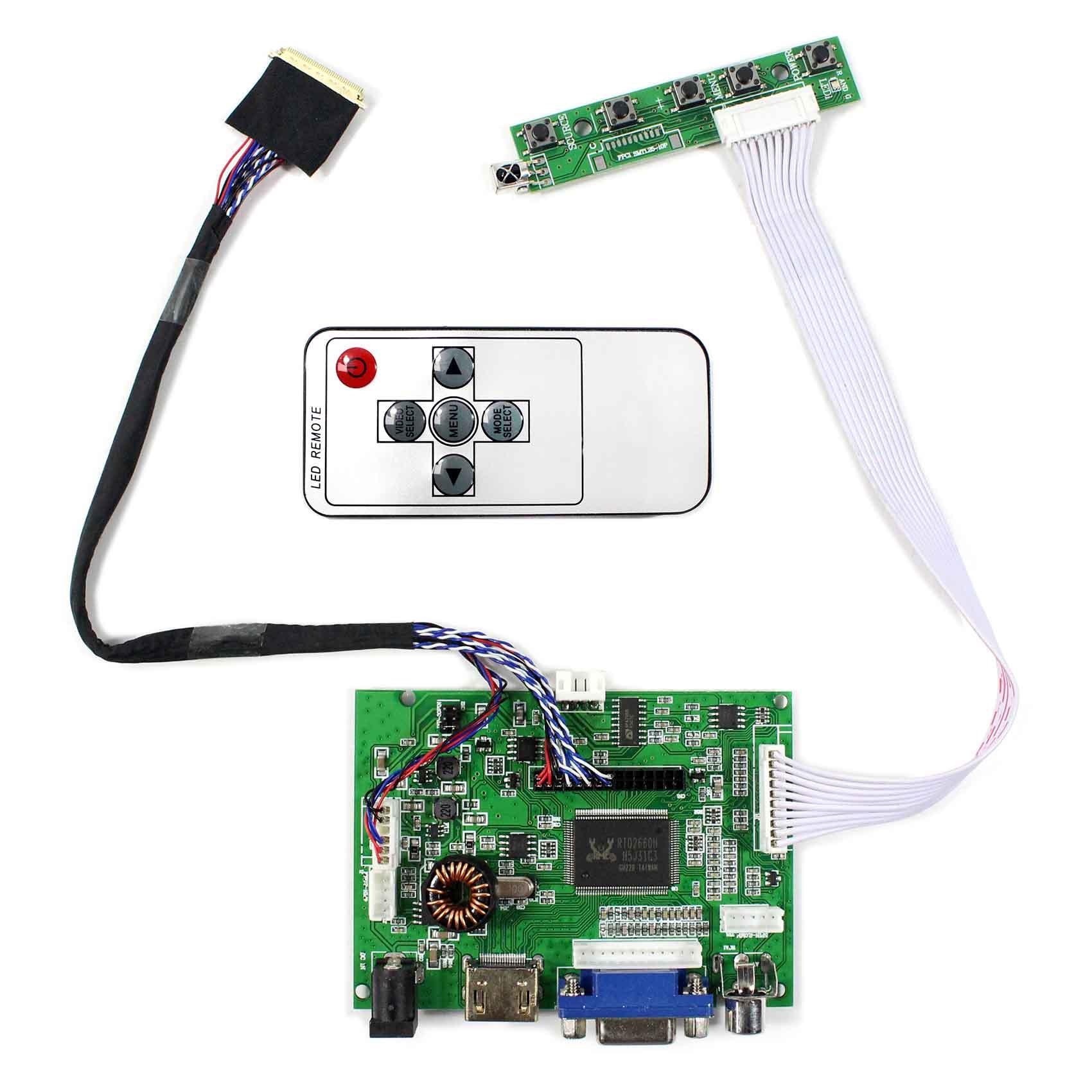 HDMI VGA 2AV Placa de controlador de audio lcd VS-TY2662-V196 trabajo para 40pin 1366x768 LVDS lcd LP125WH2 SLB1 N134B6-L01 LT131DEVHV00