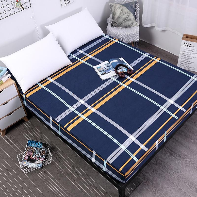 J جديد الطباعة فراش (مرتبة) السرير غطاء فراش مقاوم للماء بطانة واقية شرشف فصل سرير مائي البياضات مع مرونة