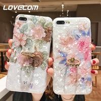 Чехол-подставка LOVECOM в стиле ретро с цветочным рисунком и кольцом для телефона iPhone 12 Mini 11 Pro Max XR XS Max X XS 7 8 Plus, мягкий чехол IMD Dream