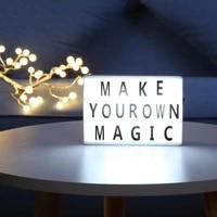 Lampe LED de Table a piles avec lettres A6  luminaire decoratif dinterieur  ideal pour une fete  un mariage ou un anniversaire  a monter soi-meme