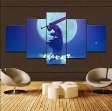 Toile impression peinture affiche 5 pièce Anime Berserk tripes lune ombre épée guerrier image mur Art décor à la maison œuvre cadre