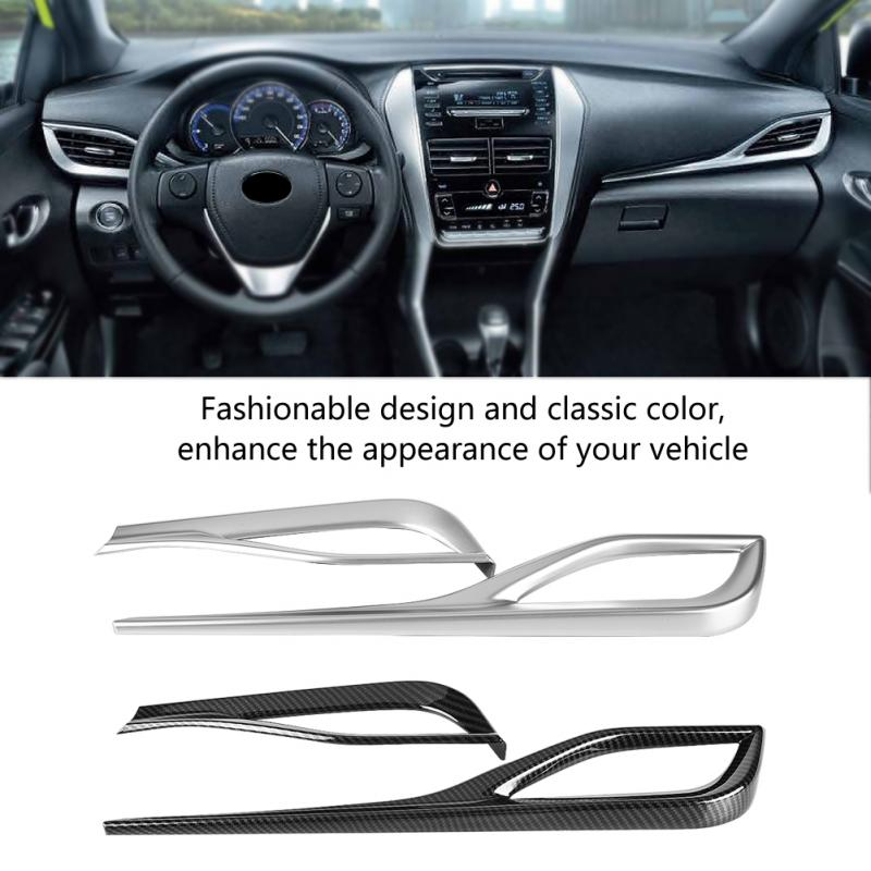 2 uds accesorios de coche frontal interior aire cubierta de salida de ventilación molduras de marcos para Toyota Yaris VIOS (XP150) 2013-2018