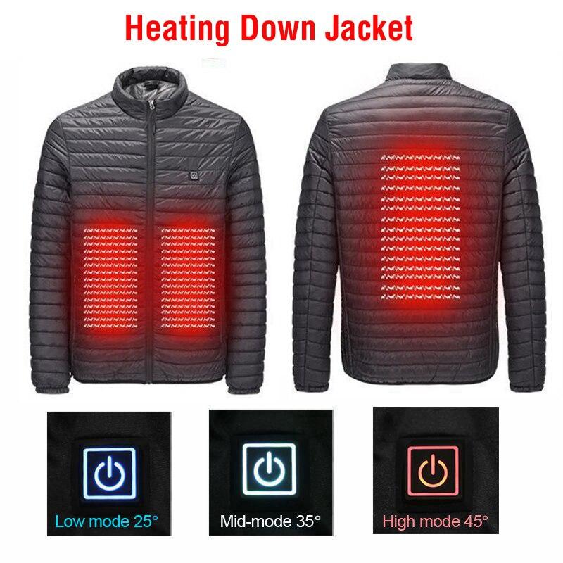 La luz ártica de invierno de los hombres USB chaqueta caliente al aire libre senderismo invierno cuerpo chaqueta caliente calefacción eléctrica abrigo ropa