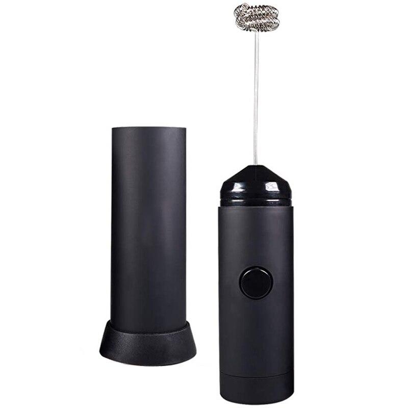 Mini vaporizador de leche portátil-fabricante de espuma eléctrica con batería   incluye soporte de cocina, batidor de leche con leche caliente, cafetera Mi