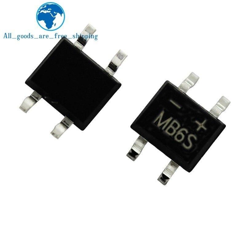 Rectificador de diodo 0.5a sop-4 smd, 10 peças 600 v 0.5a ponte mb6s