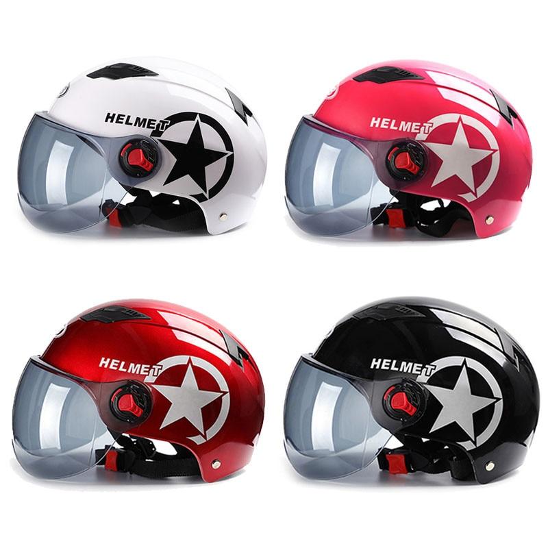 Lente solar para capacete de motocicleta abs, lente à prova de ultravioleta, 4 cores