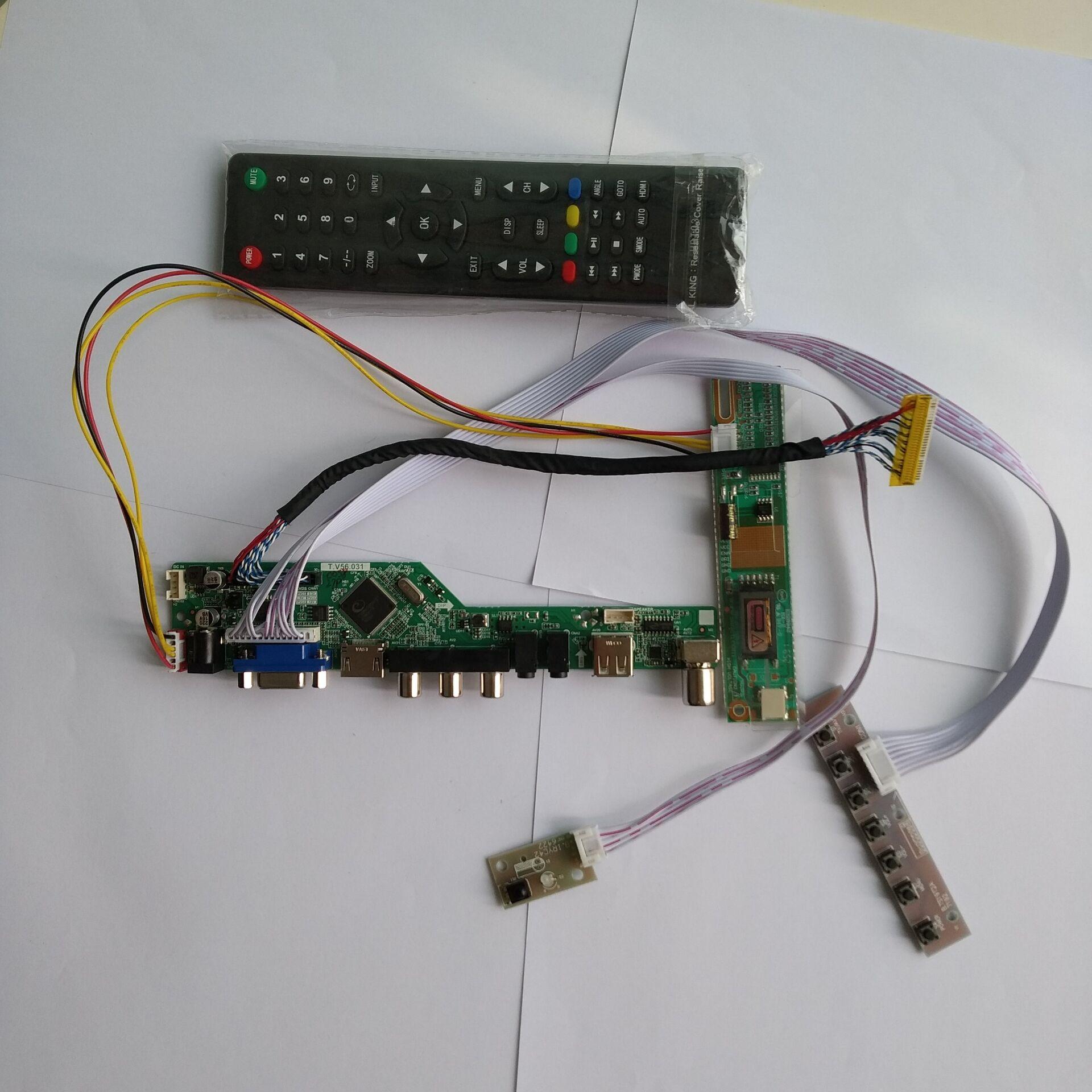 """TV HDMI VGA AV USB LCD controlador de LED Kit de placa controladora tarjeta para LP154WX4 (TL) (A3)/TLA4 1280X800 15,4 """"monitor"""