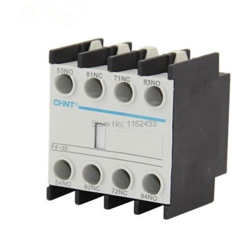 Série contator auxiliar bloco de contato para CJX2 LC1-D NC1 F4 F4-11 F4-20 F4-02 F4-22 F4-31 F4-13 F4-40 F4-04
