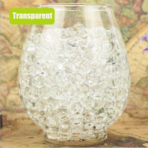Über 100 Teile/los Kristall Wasser BabyBeads Kristall Boden Wasser Perlen Schlamm Wachsen Ball Wasser Magic Balls Home Decor Hochzeit Hydrogel