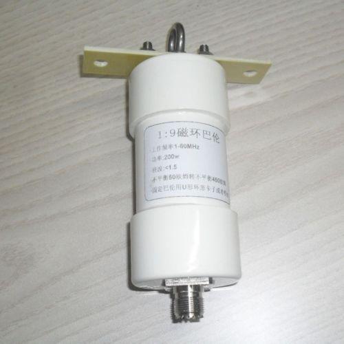 DYKB 1:9 balun 200W short wave Balun HAM Long Wire HF Antenna RTL-SDR 1-56MHz 50 ohm to 450 ohms NOX-150 magnetic