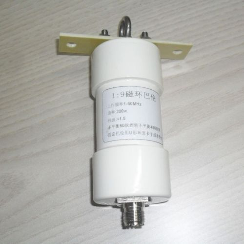 DYKB 1:9 balun 200W onda corta Balun HAM cable largo antena HF RTL-SDR 1-56MHz 50 ohm a 450 ohmios NOX-150 magnético