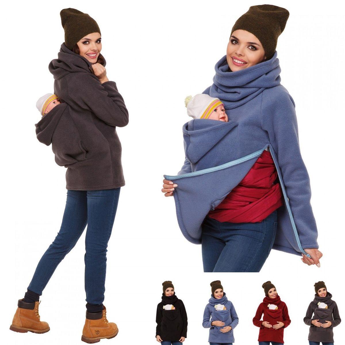 Premama Baby Carrier Maternity Top Autumn Winter Coat Pregnancy Clothes Mummy Kangaroo Sweater Loose Coat S/M/L/XL/2XL 3 Colors