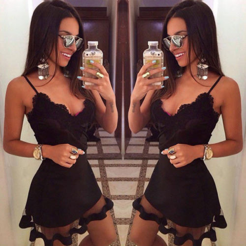 2019 Women maxi Casual bandage bodycon Summer Sleeveless lace beach Party Evening Short Mini Dress