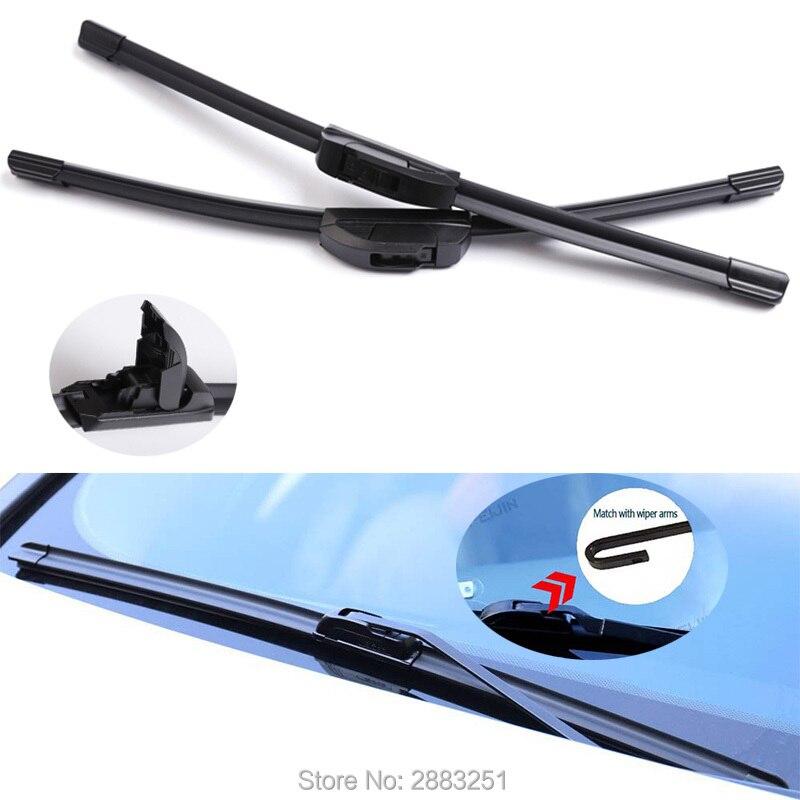Alta qualidade Universal U/Tipo J Windshield Wiper Blade Para Honda Civic Jazz Fit Crv Accord 7 8 cr -v cidade odyssey Vfc Limpadores de Carro
