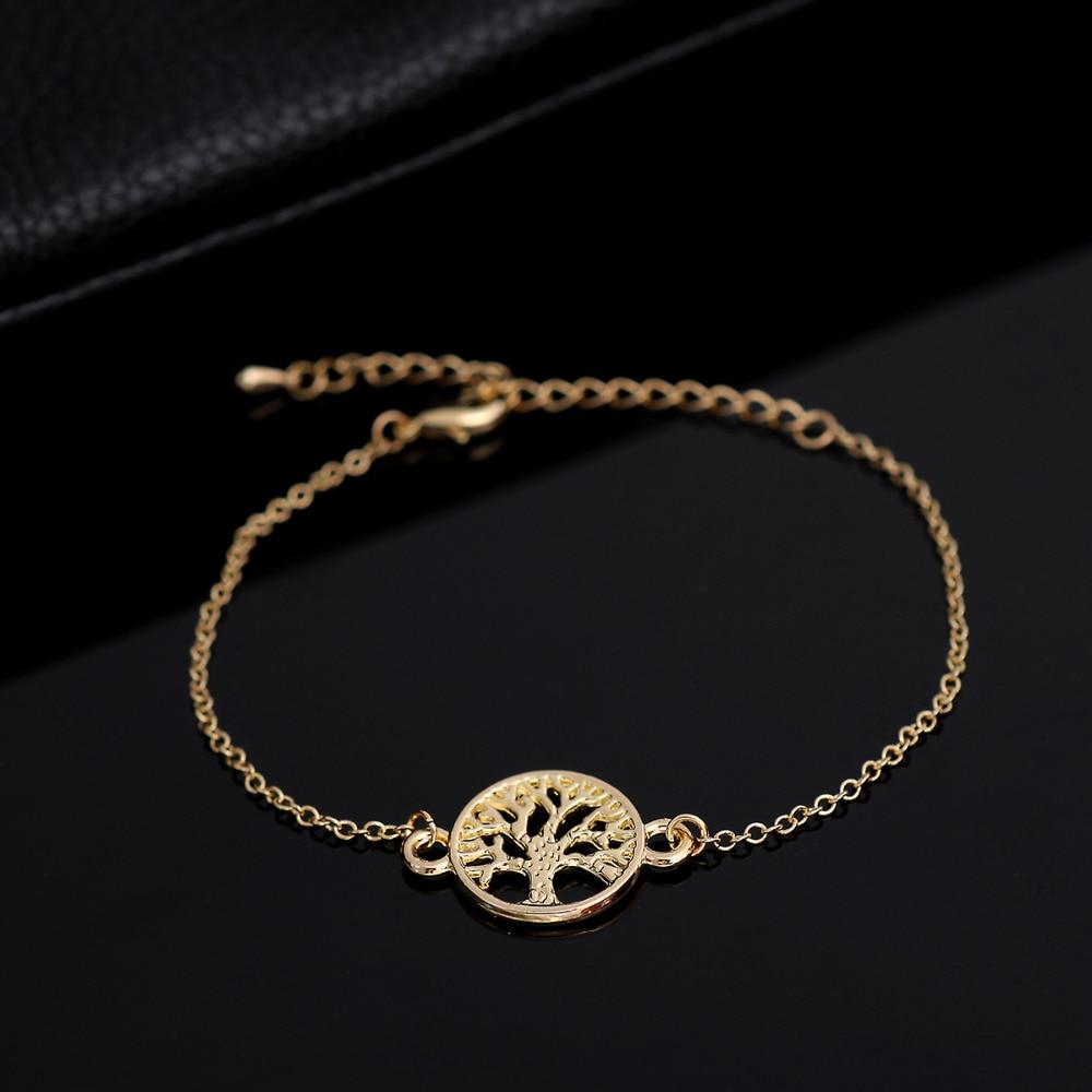 Shuangsho Fashion Link Chain Tree of Life Charm Bracelet for Women Simple Tree Men Bracelets Bangles Party Gift pulseras SL037
