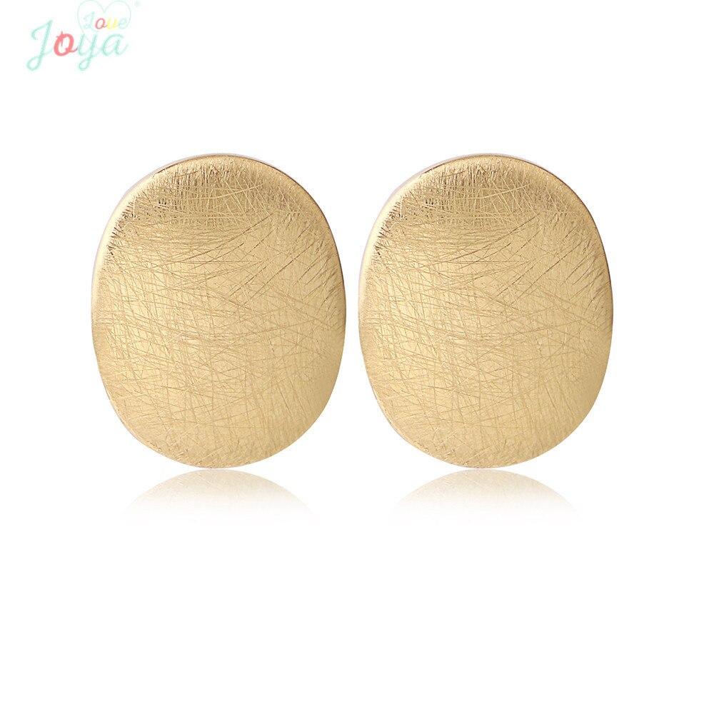 Joya amor ouro cor do parafuso prisioneiro brincos de aço inoxidável pequeno simples studs brinco escovado jóias metálicas estudante diário vestindo