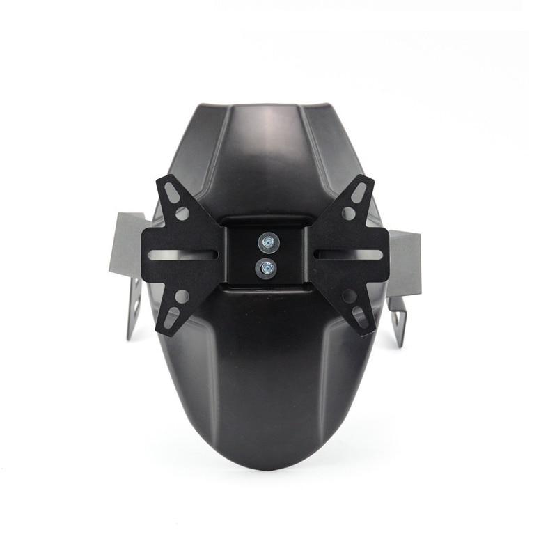 Guardabarros trasero de motocicleta, protector de salpicaduras de neumáticos para Honda Grom 125 Msx125 2013-2018 negro