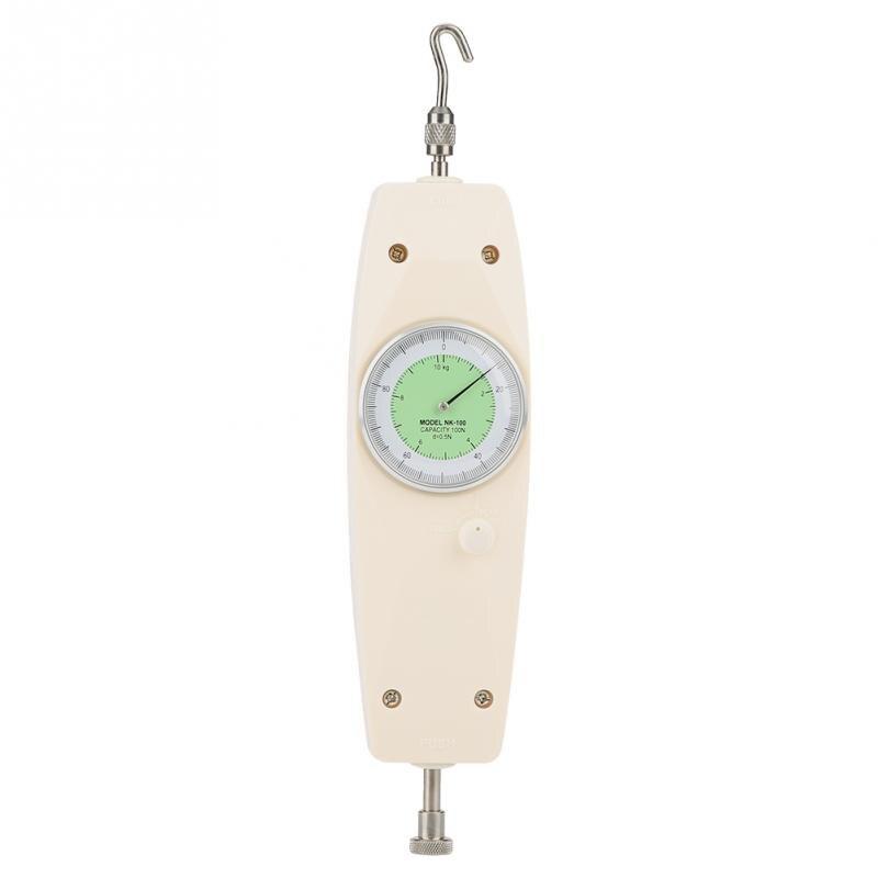 Medidor de fuerza del dinamómetro analógico 10N instrumento probador de medición Indicador de fuerza de empuje al por mayor