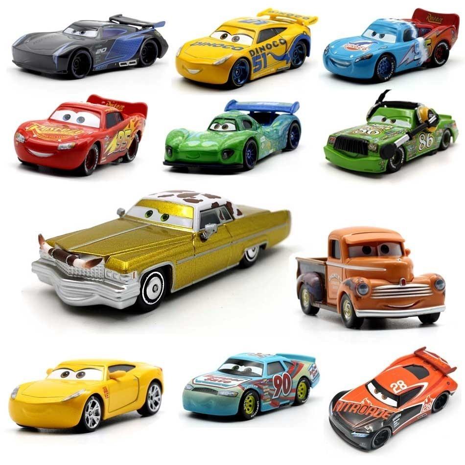 Металлическая литая машинка Молния Маккуин, Pixar машина, автомобиль Disney 1:55, металлическая коллекционная игрушка для детей, подарок для мальч...