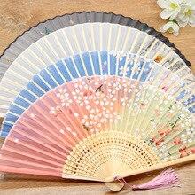 Bamboo Fold Hand Fans Wedding Chinese Japanese Fan Children China Antique Folding Fan Gift eventail a main Vintage bambu waaiers